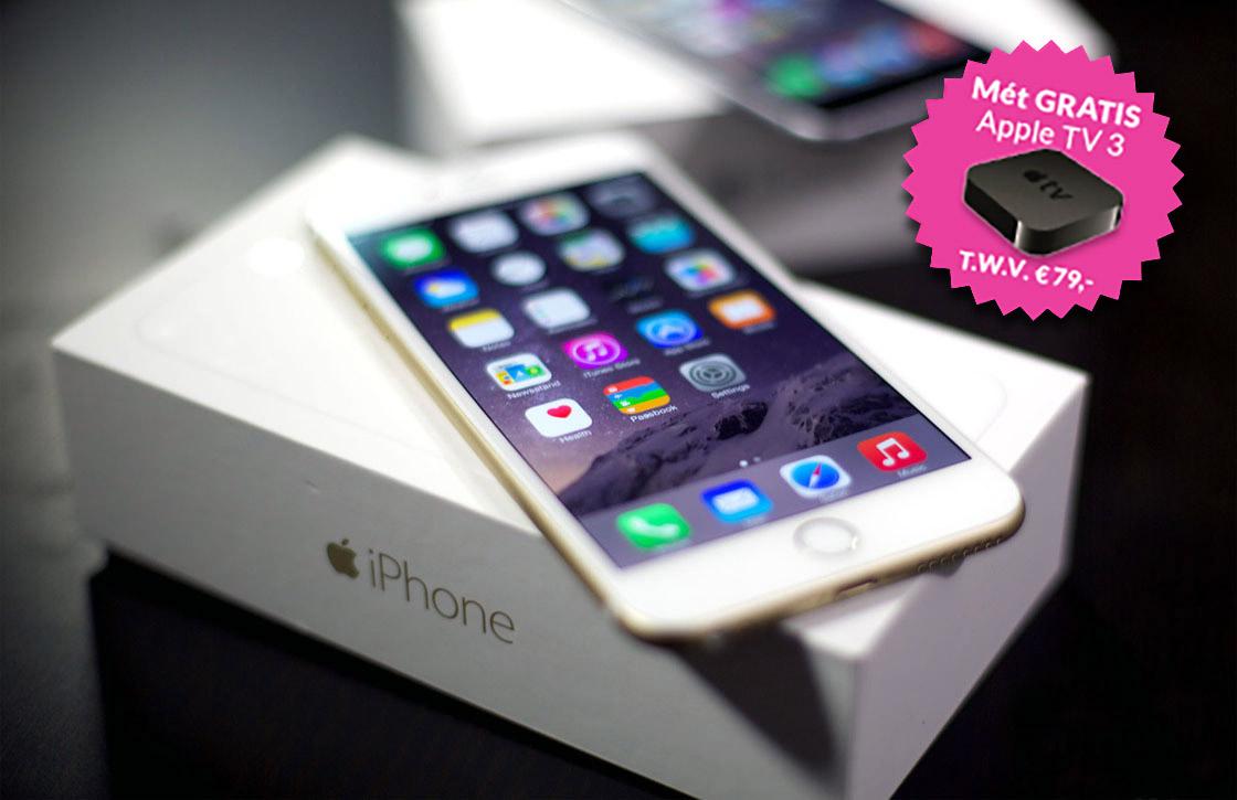 Tip: iPhone 6 (16GB) nu met Apple TV 3 cadeau