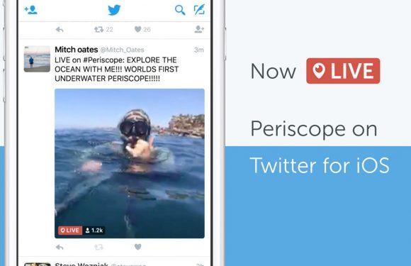 Twitter laat Periscope-video's vanuit de timeline bekijken