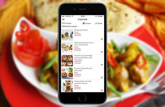 Zoek snel een recept met de vernieuwde Receptenmaker-app