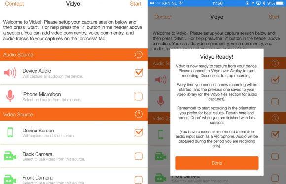 Zo maak je iPhone-schermopnames met de Vidyo-app
