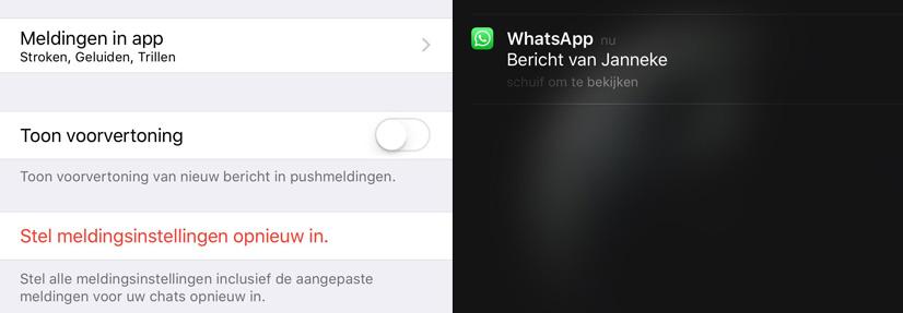 whatsapp notificaties
