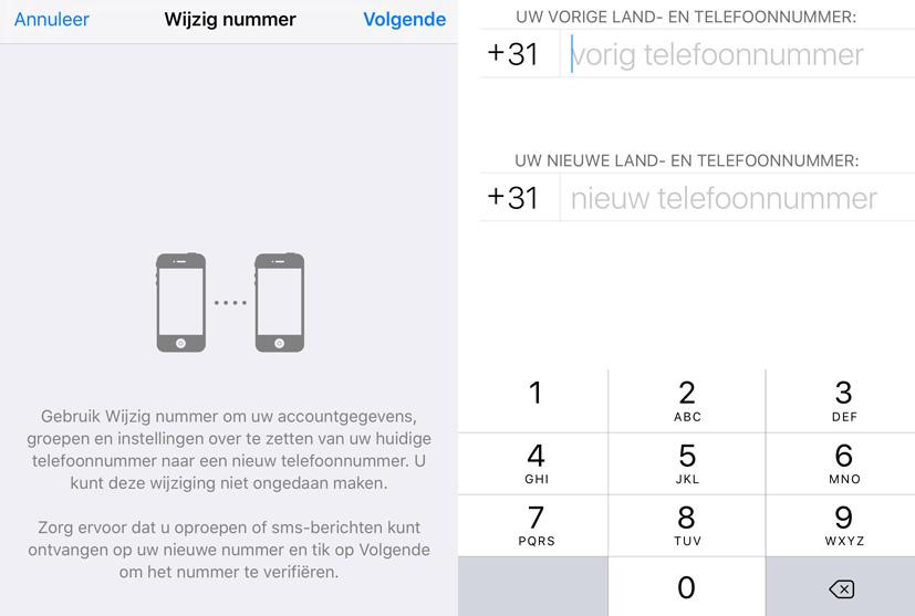 whatsapp-functies nummer wijzigen