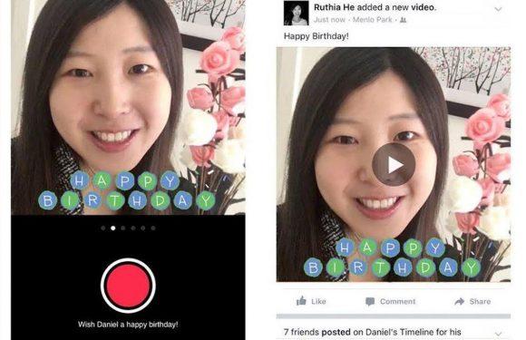 Facebook laat je vrienden feliciteren met een videoboodschap