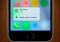 Tip: haal meer uit de Telefoon-app met 3D Touch