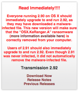 ransomware in transmission