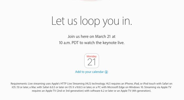 apple evenement livestream