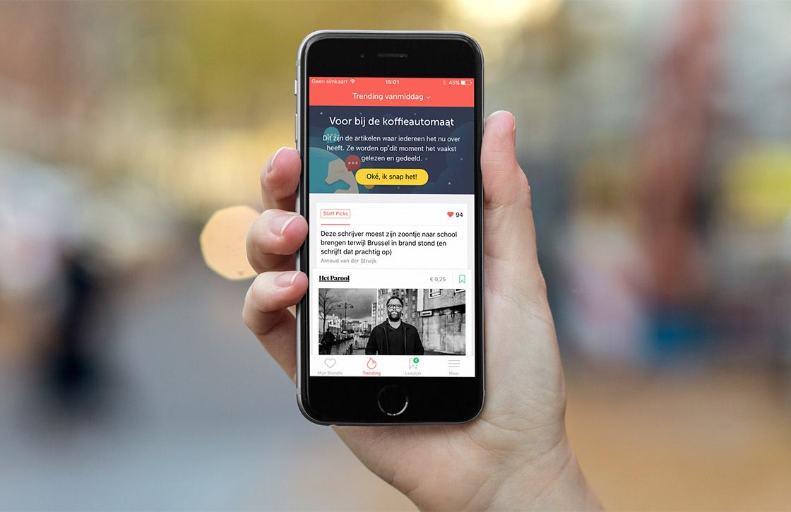 Blendle lanceert vernieuwde iOS-app met fris design