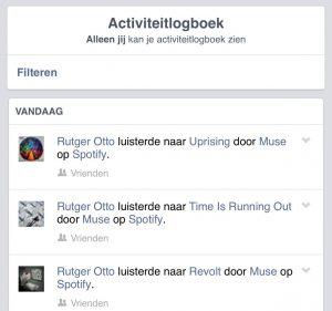 facebook activiteit