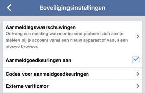 facebook beveilig