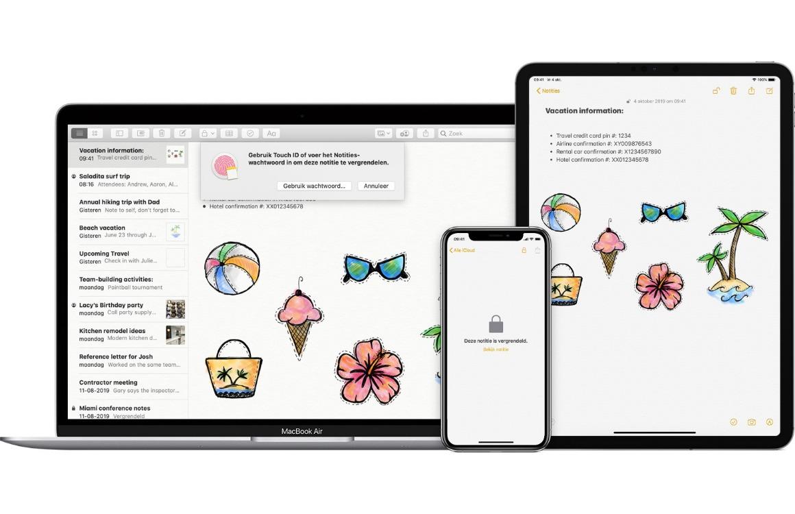 In 4 stappen notities beveiligen op je iPhone, iPad en Mac