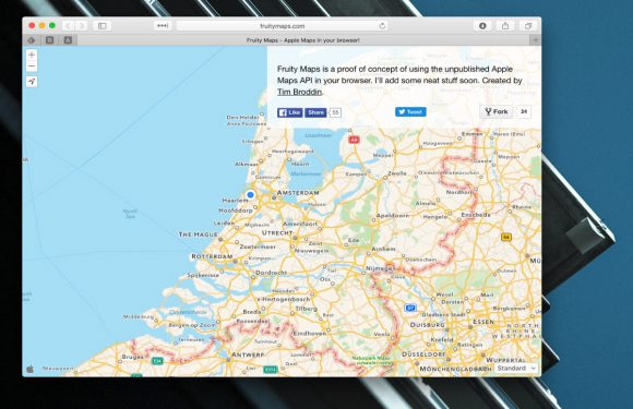 Met Fruity Maps gebruik je Apple Maps in je browser