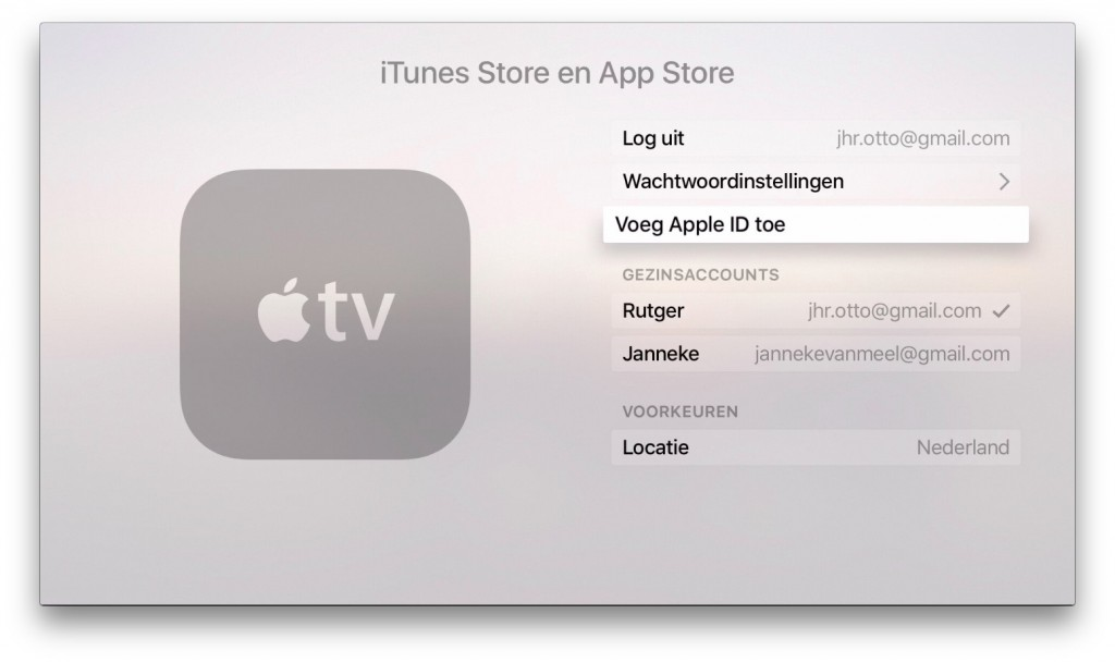 apple tv accounts
