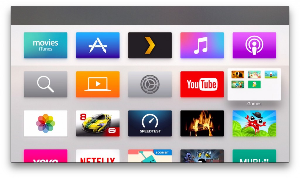 apple tv mapjes