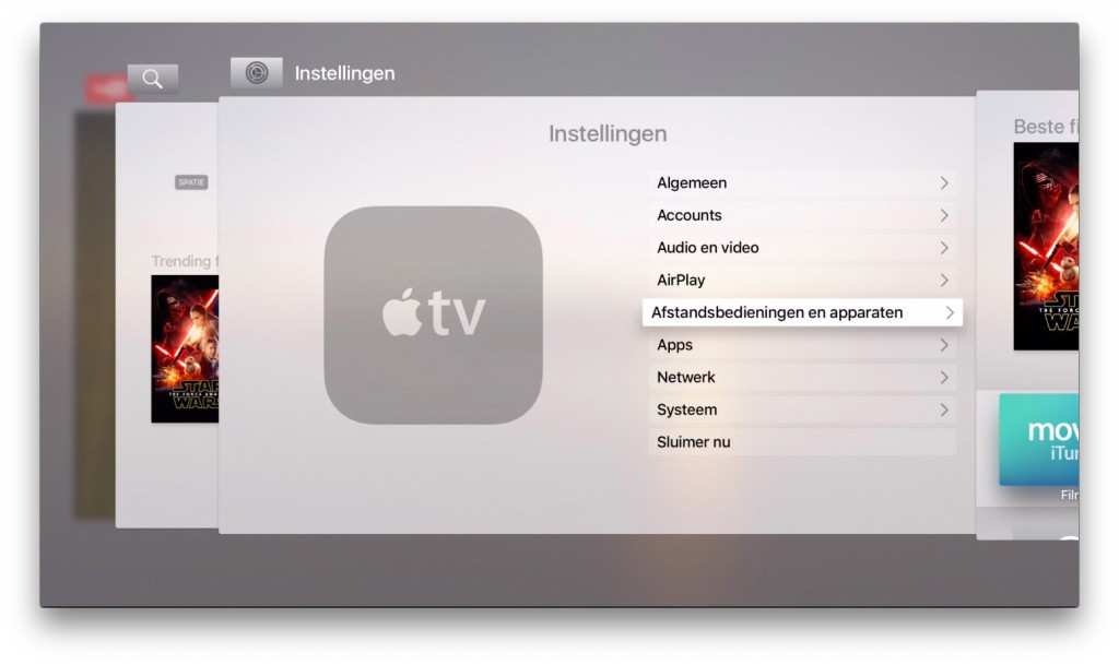 apple tv openstaande apps