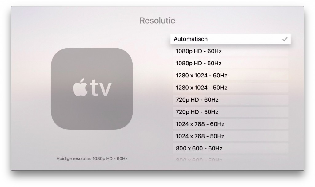 apple tv resolutie