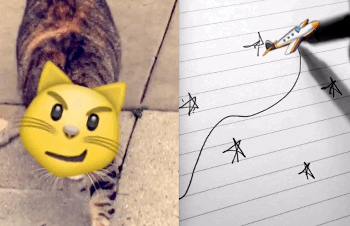 Snapchat kondigt bewegende emoji met augmented reality aan