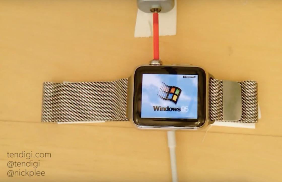 Video: Zo ziet Windows 95 eruit op een Apple Watch