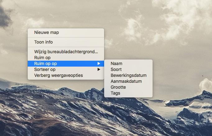 Mac bureaublad opruimen