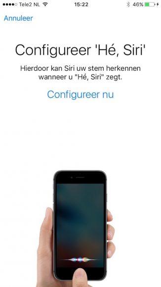 He Siri werkt niet