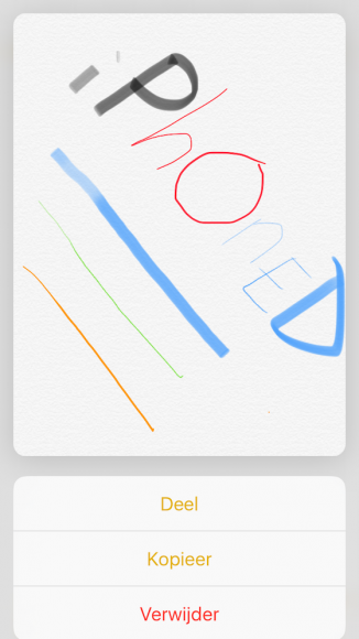 Notities 3D Touch