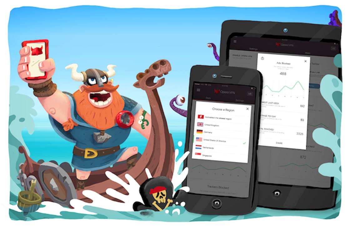 Opera VPN: gratis onbeperkte iOS VPN-dienst en adblocker