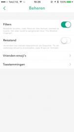 Snapchat batterij