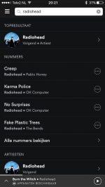 Spotify menu