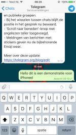 Telegram bericht bewerken