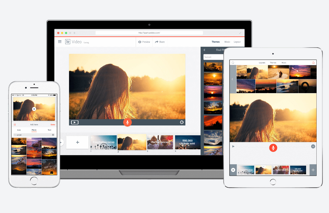 Adobe verandert iOS-apps in Spark-tools
