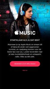 apple music abonnee