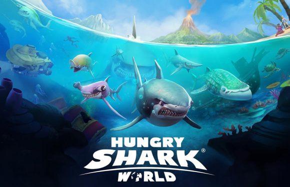 Jaag als haai op lekkernijen uit de zee in Hungry Shark World