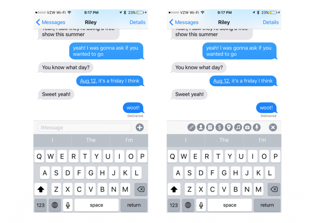 iOS 10 iMessage concept
