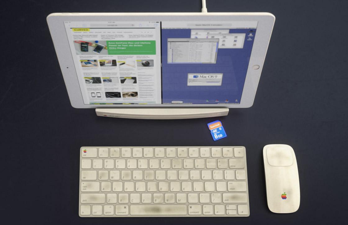 Fraai concept gebruikt Macintosh LC als iPad-dock