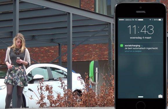 App maakt opladen van elektrische auto's socialer