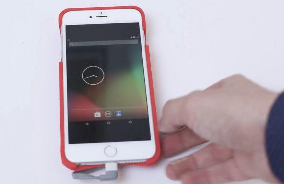 Deze iPhone draait op Android dankzij een speciale case