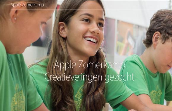 Kinderen kunnen zich nu inschrijven voor het Apple Zomerkamp 2016