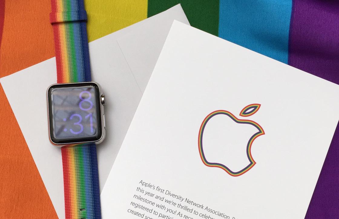 Apple steunt Pride Parade met exclusieve regenboog Apple Watch-bandjes