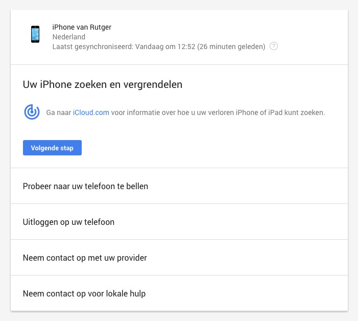 google iphone zoeken