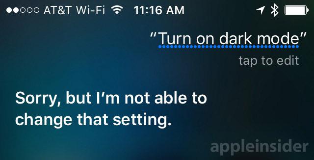 Siri Dark Mode