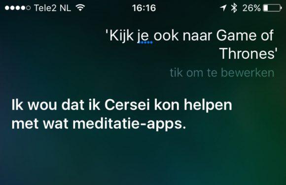 Ook de Nederlandse Siri kijkt Game of Thrones: 6 grappige antwoorden