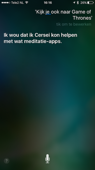 Siri Game of Thrones