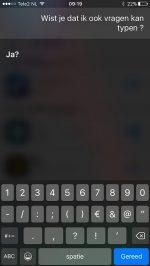 Siri vragen typen