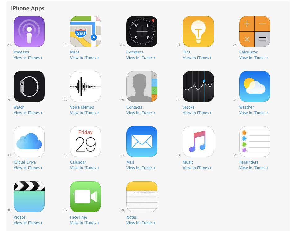 Standaard-apps wissen