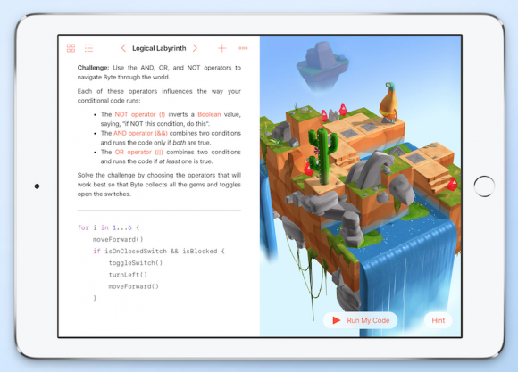 Swift Playgrounds robots
