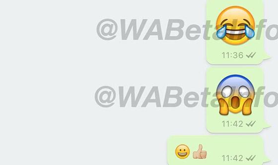 grotere emoji whatsapp