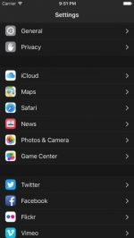 iOS 10 Instellingen Dark Mode