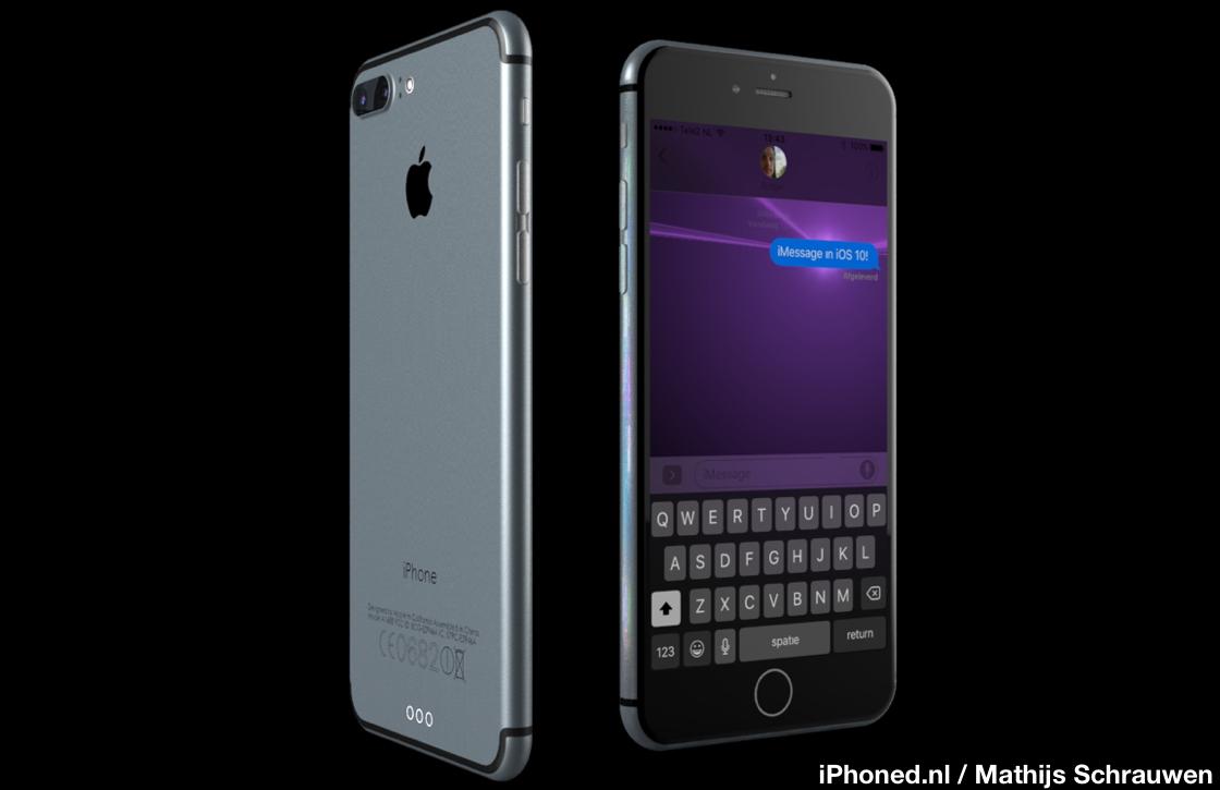 Bekijk het eerste iPhone 7 concept met iOS 10