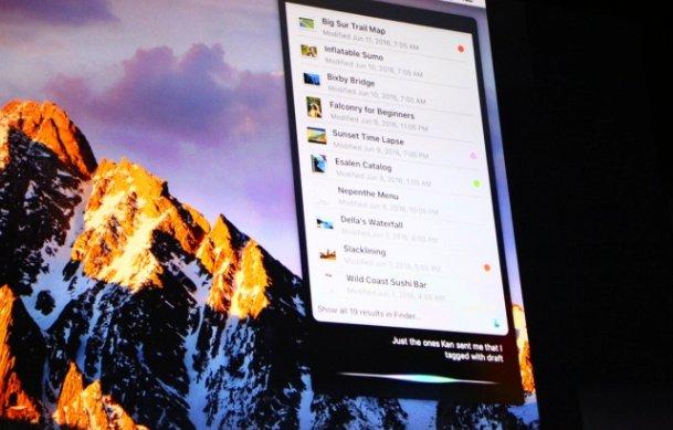 macOS Sierra Officieel Siri