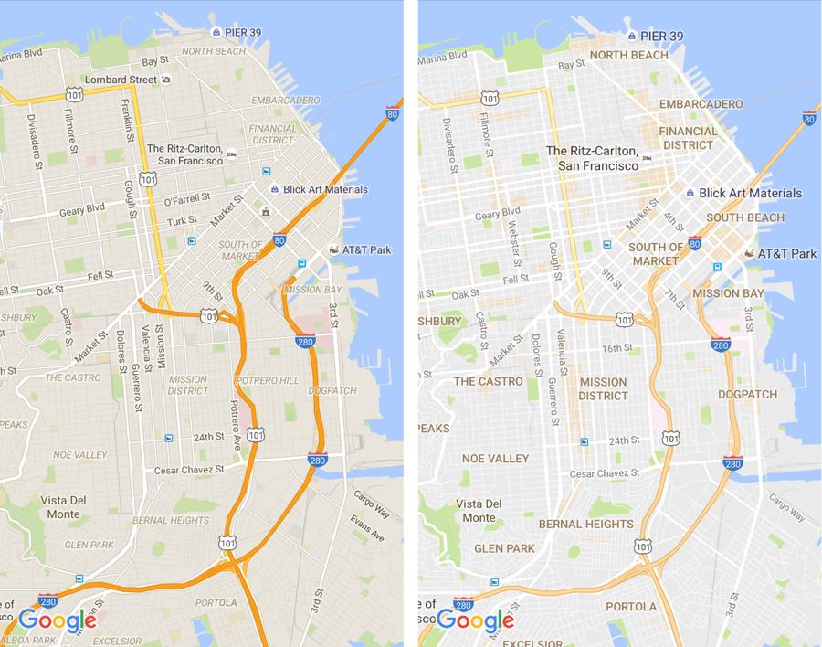 Google Maps design update