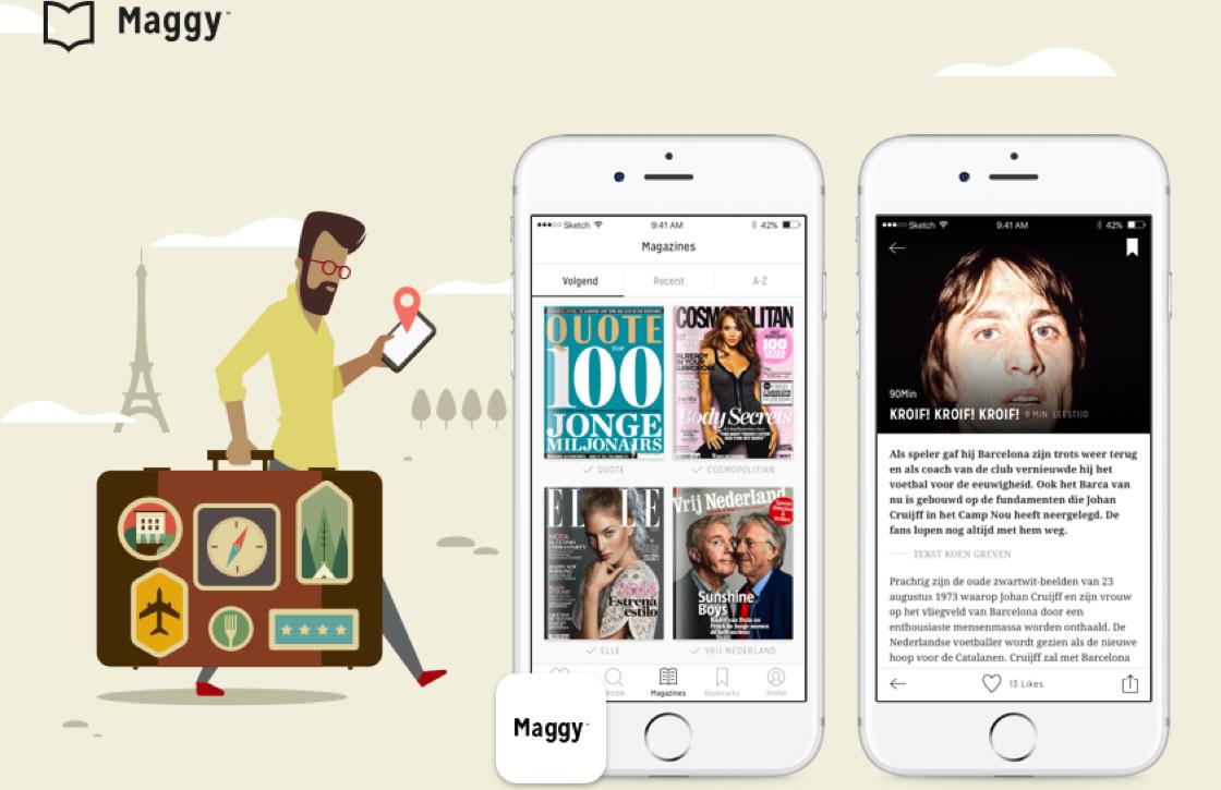 Zet tientallen tijdschriften op je iPhone met de offline-functie van Maggy